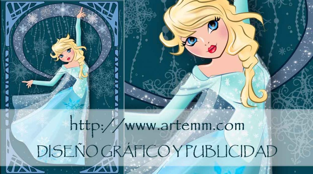 Litografía Elsa de Frozen