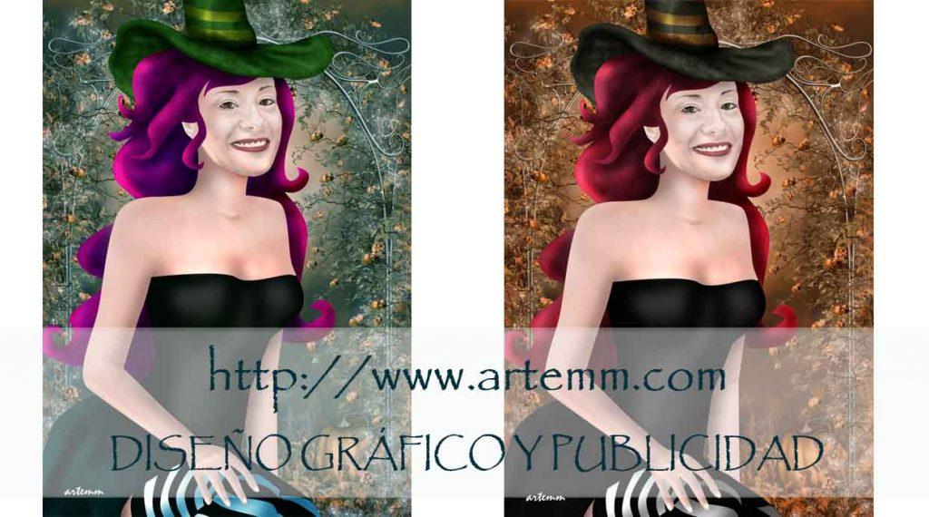 Retrato Brujita Warhol