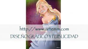 Retrato Con vestido azul