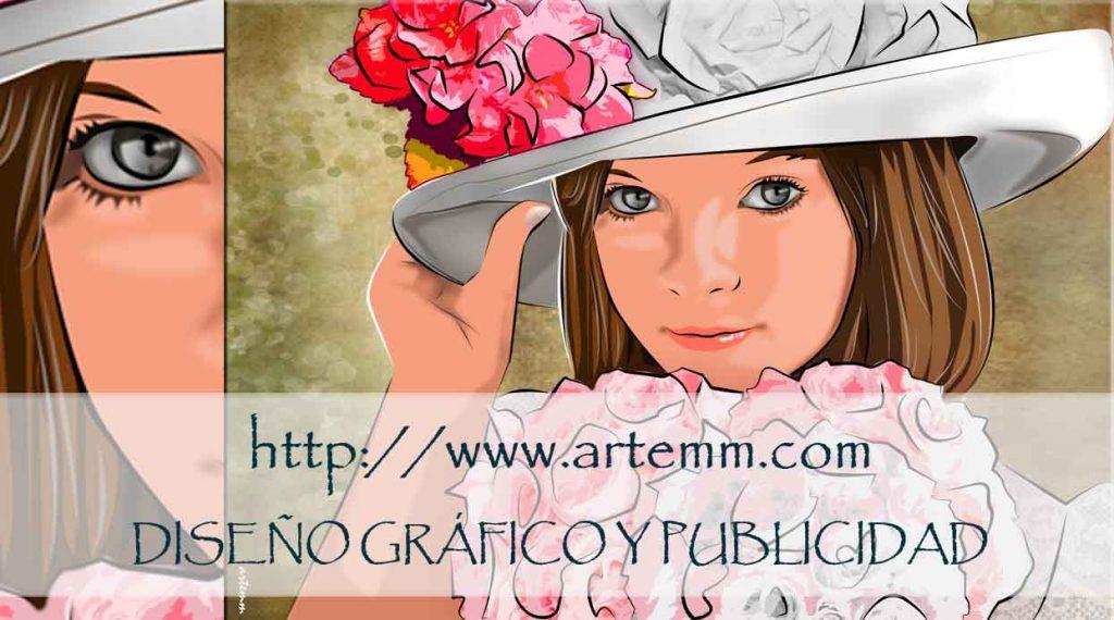 Retrato Niña con sombrero