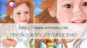 Retrato niña mariposa