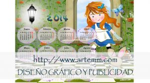 SALVAMANTEL CALENDARIO ALICIA