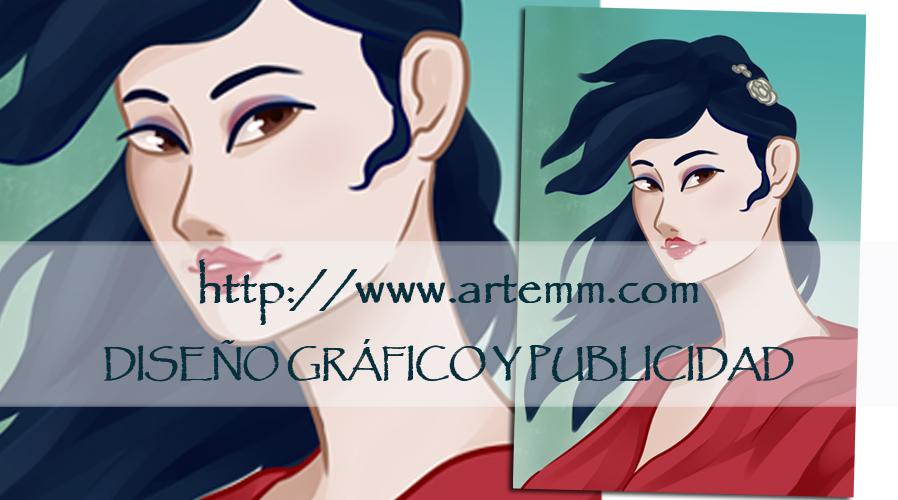 Retrato japonesa estilo cartoon